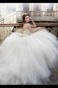 obsessed with fitted bodess and tulle ballgown