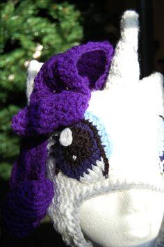 Rarity My Little Pony Beanie Hat. $40.00, via Etsy.