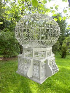 Reserved For Chris ---------- Vintage Metal Birdcage -- French Victorian Era…