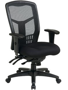 Office Star High Back ProGrid Back FreeFlex Seat with Adjustable Arms and Multi-Function and Seat Slider, Black Managers Chair >>> You can find out more details at the link of the image. (This is an affiliate link)