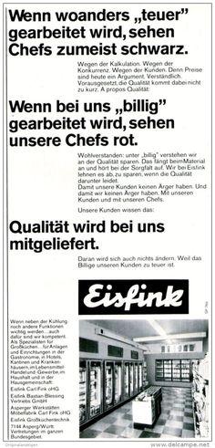 Original-Werbung/ Anzeige 1969 - EISFINK / ASPERG - ca. 110 x 240 mm