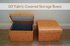 fabric covered boxes diy - Google Search