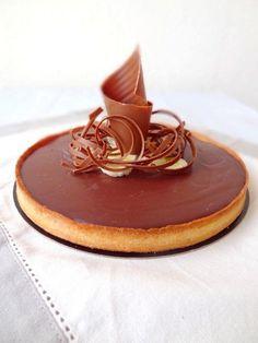 Tarte au chocolat et banane (CAP pâtisserie)