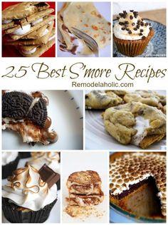 25 Best S'more Recipes #smores #recipe