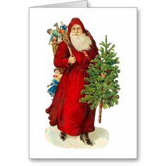 Victorian Santa Claus Card