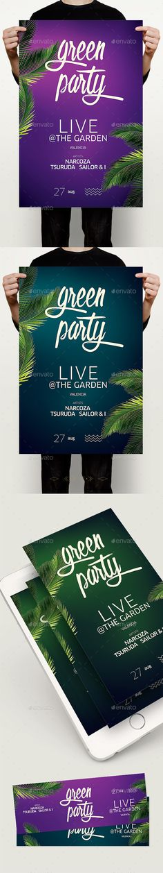 Night Summer Flyer — Photoshop PSD #garden #exotic • Available here → https://graphicriver.net/item/night-summer-flyer/17493817?ref=pxcr