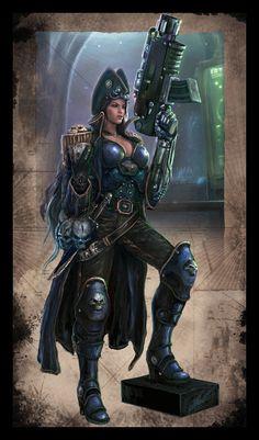 Warhammer 40k - Rogue Trader - Lorayne by TheFirstAngel.deviantart.com on @deviantART