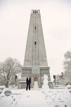 A must have photo if you are lucky enough to get a snowy wedding day