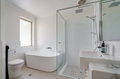 Modus Property 353 Sevenoaks St, Cannington WA 6107 1300-136-384 Bathroom Renovations Perth, Large Shower, Big Windows, Cabinet Makers, Double Vanity, Plumbing, Tub, Layout, Design