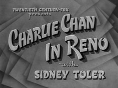Charlie Chan in Reno (1939).