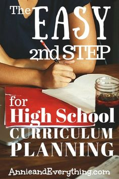 Are you worried about homeschooling high school?  This easy step in the high school curriculum planning process will give you the confidence you need to jump right in!