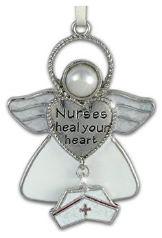 Nurses Heal Your Heart Hanging Ornament Angel with Hat Charm Banberry Designs http://www.amazon.com/dp/B00DZRDVLA/ref=cm_sw_r_pi_dp_Pqwhvb18J95ZC