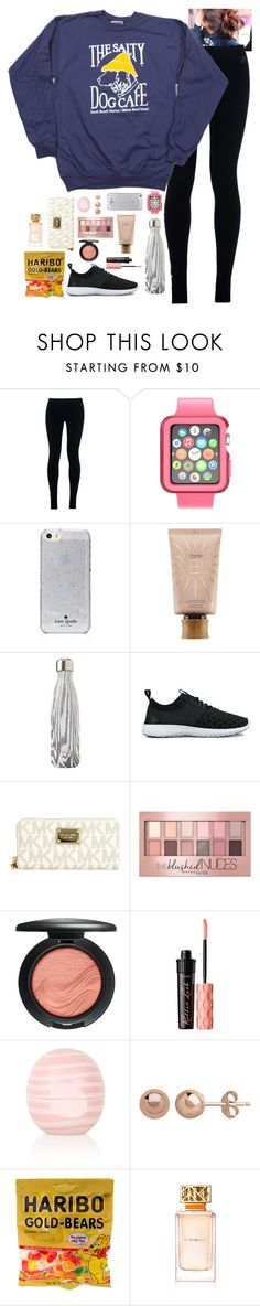 """"""""""" by hannahcantrel ❤ liked on Polyvore featuring NIKE, Speck, Kate Spade, tarte, S'well, Michael Kors, Maybelline, MAC Cosmetics, Benefit and Topshop"""