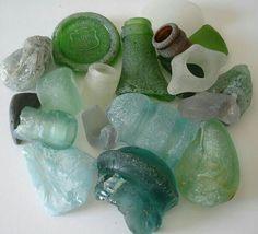 collection of sea glass Sea Glass Beach, Sea Glass Art, Sea Glass Jewelry, Mosaic Glass, Finding Treasure, Glass Rocks, Sea Glass Crafts, Vintage Bottles, Beach Crafts