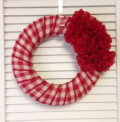 Burlap Wreath Red Plaid Burlap Wreath by ContemporaryCrafting, $27.00