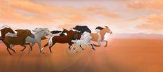 Spirit The Horse, Spirit And Rain, Horse Animation, Horse Illustration, Snake Art, Disney Movies, Disney Stuff, Horse Drawings, Inspirational Wallpapers