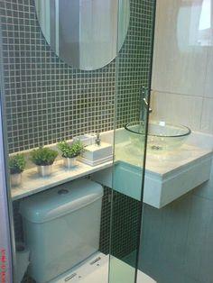 Decor pequenos com estilo: Banheiros pequenos e perfeitos.