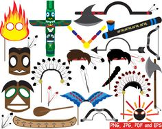 Props Indian Tribal Digital Clipart png jpg pdf eps Clip Art Graphics Personal Use Commercial Use Instant download - 41 images (174)