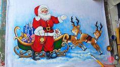 Papai Noel com Renas em Tecido (Aula 100/ Parte 2)