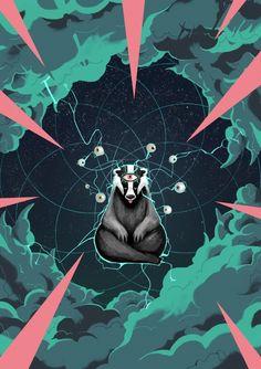 Whirligig — All Seeing Badger