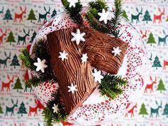 Abc Mojej Kuchni: Gałąź wigilijna (ciasto kłoda) Bûche de Noël