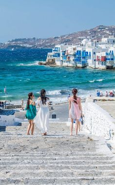 Windy day in Mykonos, Greece