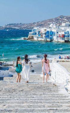 Windy day in Mykonos, Greece