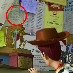 Carl and Ellies address from Up! In toy story 3