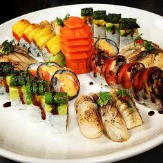 #assorted #special #rolls #aburi #nigiri #sushi @temakisushii by temakisushii