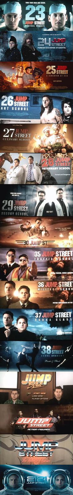 23, 24, 35... Jump Street. LoL #Funny #comedy #movies #channing #Jonah #Hill My video Game Blog: http://nogame5.blogspot.pt/