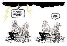 Rocks And Hard Places - Zanetti's View Australian Politics, Rocks, Cartoon, Places, Comic, Stone, Cartoons, Comics And Cartoons, Stones