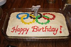 Live. Read. Create. Thrive!: an Olympic birthday party