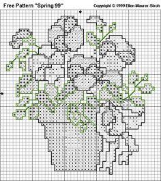 "Free Cross Stitch Pattern ""Spring 99"" - Symbolchart"
