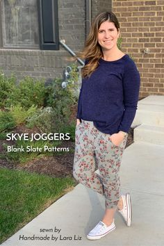 Skye Joggers sewing pattern from Blank Slate Patterns sewn by Handmade by Lara Liz Sewing Blogs, Pdf Sewing Patterns, Sewing Ideas, Sewing Projects, Sewing Pants, Sewing Clothes, Joggers Womens, Athleisure Outfits, Pants For Women