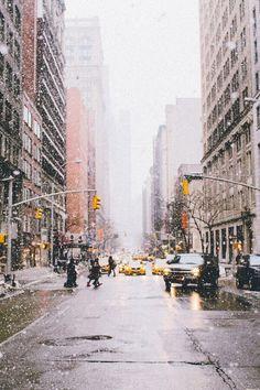 Imagen de winter, snow, and city