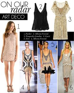 On Our Radar: Art Deco. Great for the upcoming 2012 holiday season.