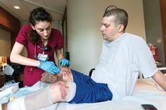 Nurses help patients injured in Boston Marathon bombings recover and restore at Spaulding Rehabilitation Hospital