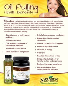 Some oil pulling health benefits.