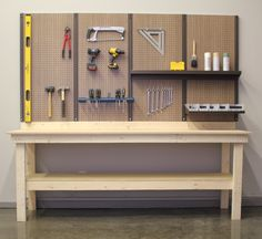 Pegboard Wall Above The Workbench Can 39 T Wait To Organize