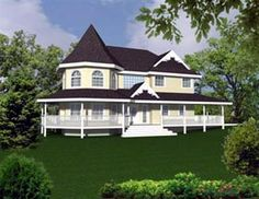 Elevation of Victorian   House Plan 86733