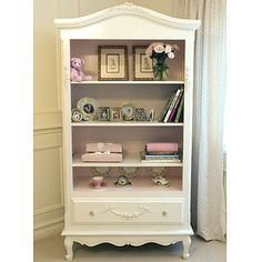 Bonne Nuit French Bookcase with Pink Accents