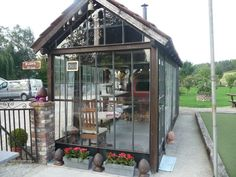 Wow!  A glass pub with a wood fired pizza oven!  What more could you ask for?