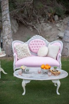 .so fun to set up a little conversation area in the front yard...