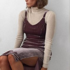 Layer up a velvet dress like Lissy Roddy #Fashionbloggers #trends
