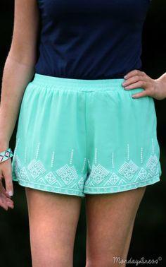 Mint Cause I'm Happy Shorts