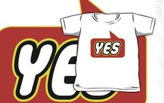 Yes T-shirt by Bubble-Tees.com by Bubble-Tees
