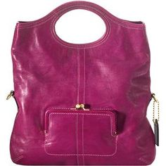 My fav purse! Coach Ergo Leather Tote in Magenta.