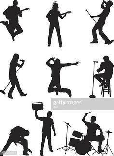 Música de estilo de vida de las personas a mecedoras Girl Silhouette, Jazz Band, Silhouettes, Rock And Roll, Musicians, Characters, Movie Posters, Movies, Inspiration