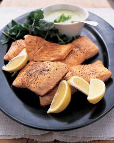 LEEKS: Seared Salmon with Creamy Leek Sauce - Martha Stewart Recipes