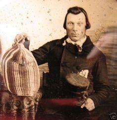 Civil War Era Northern Carpetbagger Top Hat Loot Gambler 6th Ambrotype Photo | eBay